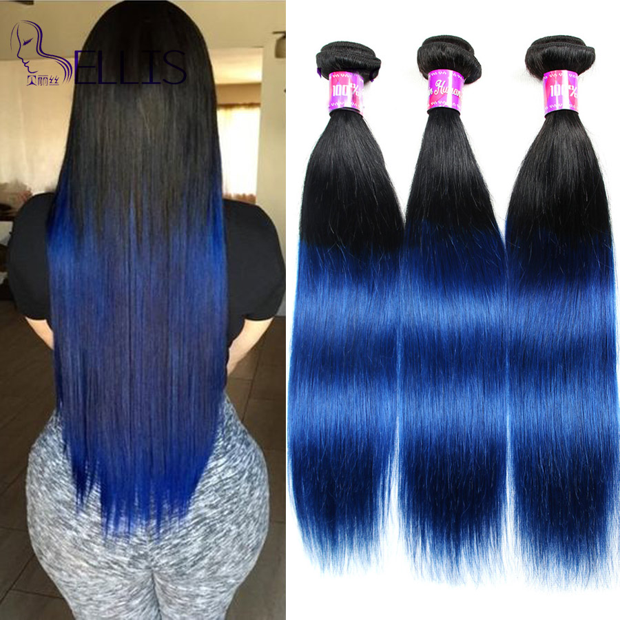 New Arrival Ombre Brazilian Straight Hair 3 Bundles Two