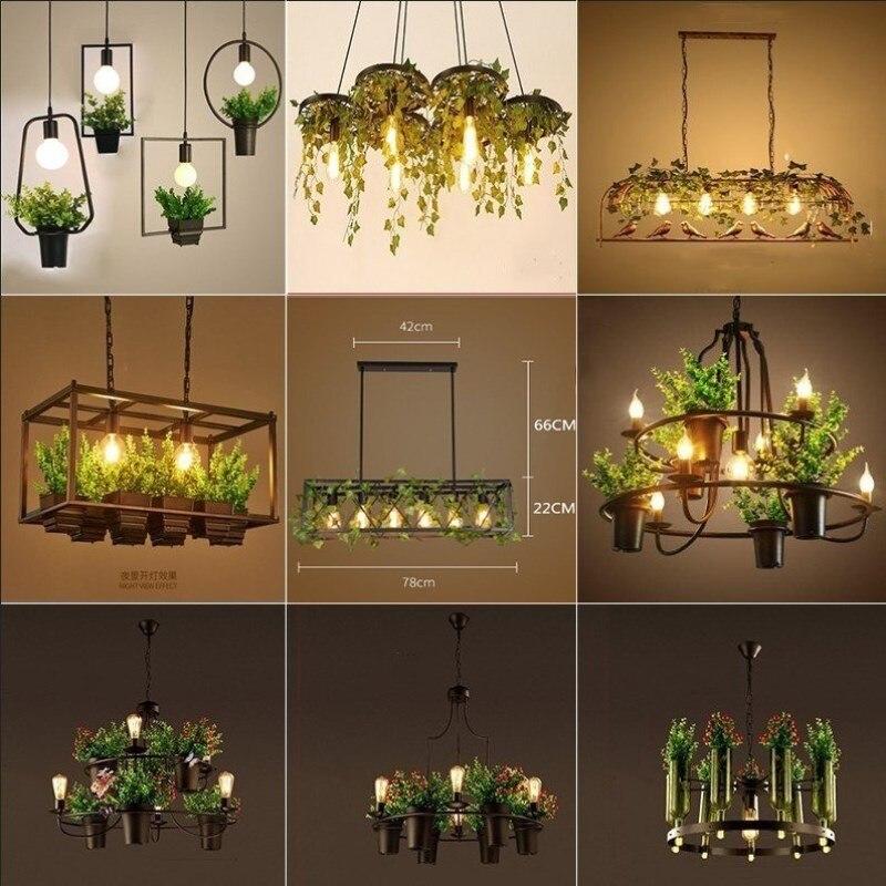 Lampe suspendue industrielle Antique en fer forgé éclairage décoratif de cuisine Restaurant hôtel plafonnier