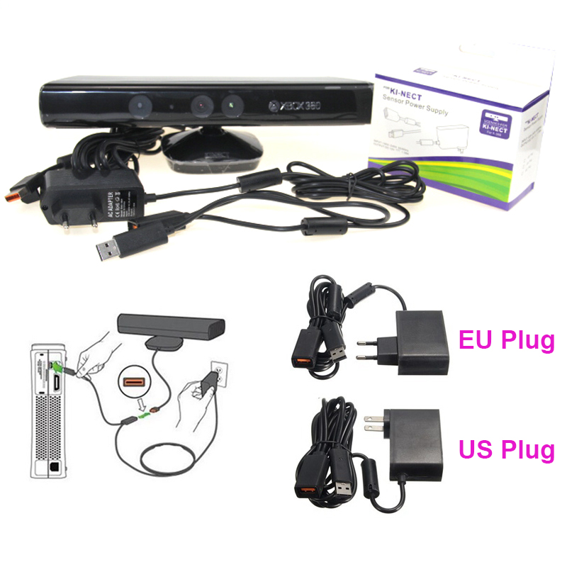 For Xbox 360 XBOX360 Kinect Sensor and Power Adapter Kit