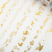 1-3cm*5m Gold stamping Festive decorat washi tape diy decoration for scrapbooking masking tape adhesive tape