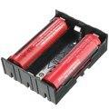 Venta al por mayor Práctica DIY Negro Caja de Almacenamiento Cuadro Titular Para 3x3.7 V 18650 Baterías Recargables