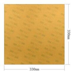 Énergique 1 pièces PEI Polyetherimide Ultem feuille avec 3M 468MP ruban pour Tronxy x5s 3D imprimante lit 330*330*1mm