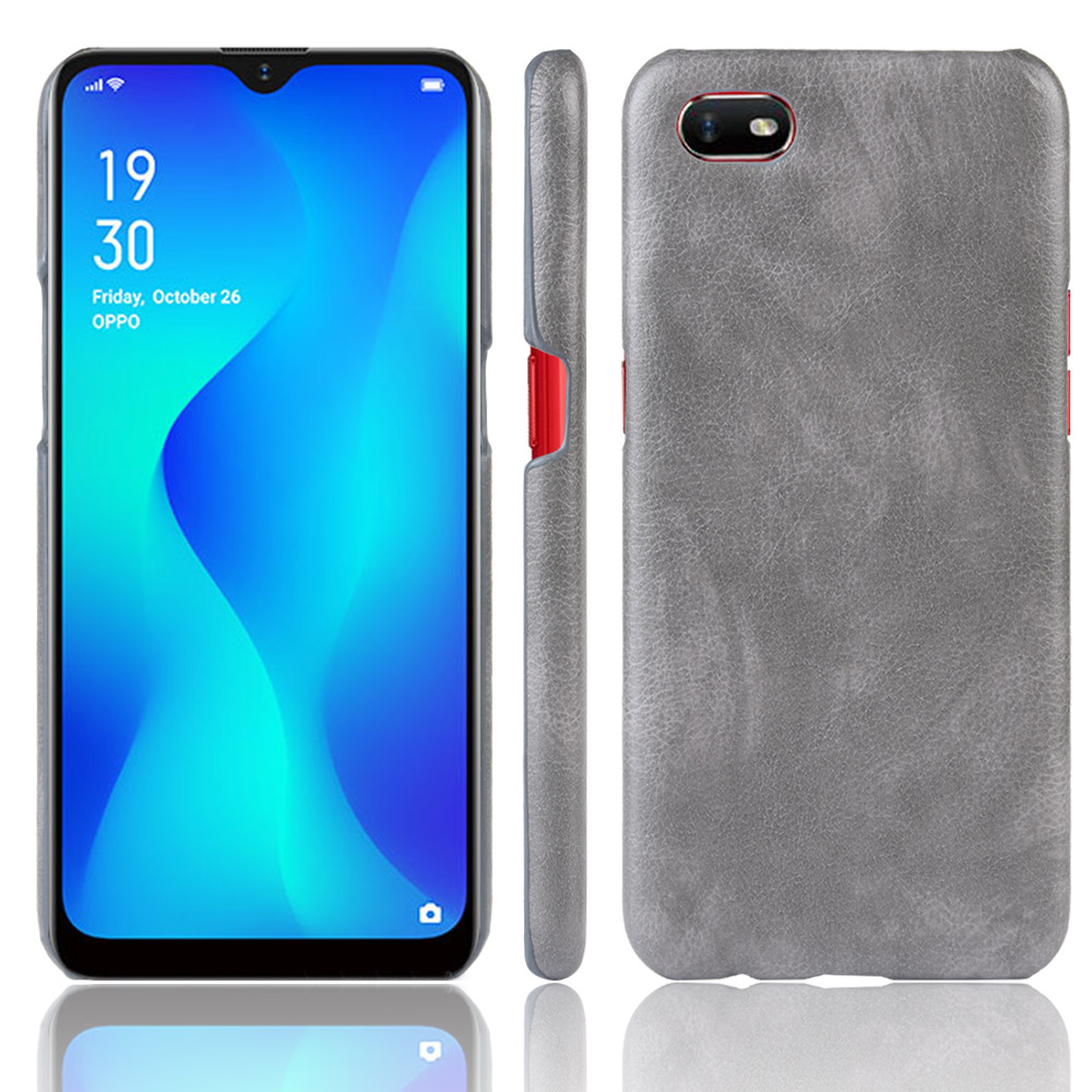 Oppo A1k Case For Oppo A1k A1 K Retro PU Leather Litchi pattern Skin PC Hard Back Cover For Oppo A1K CPH1923 Phone Bag Case