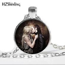 2017 Captain Swan Necklace Once upon a time Jewelry white knights hookers swan hook necklace Glass Dome Pendant Necklace HZ1(China)