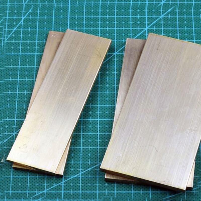 H62 bloque de latón Placa de latón cuchillo mango protector disipador de calor material