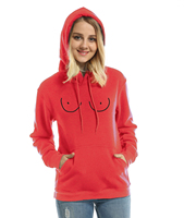 Funny TITTIES BOOBS BOOBIES Print 2017 Spring Fleece Winter Sweatshirt For Women Hoodie Pullover Female Streetwear