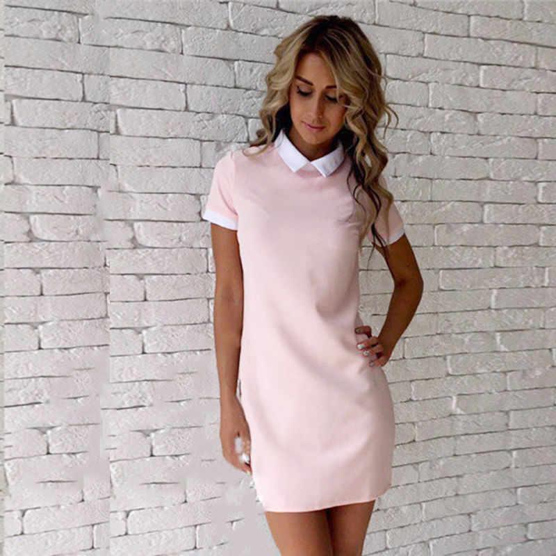 2dce72912c7 ... New Chic Women Summer Dress Short Sleeve Office Clothes Women Summer  Short Mini Dress 2017 New ...