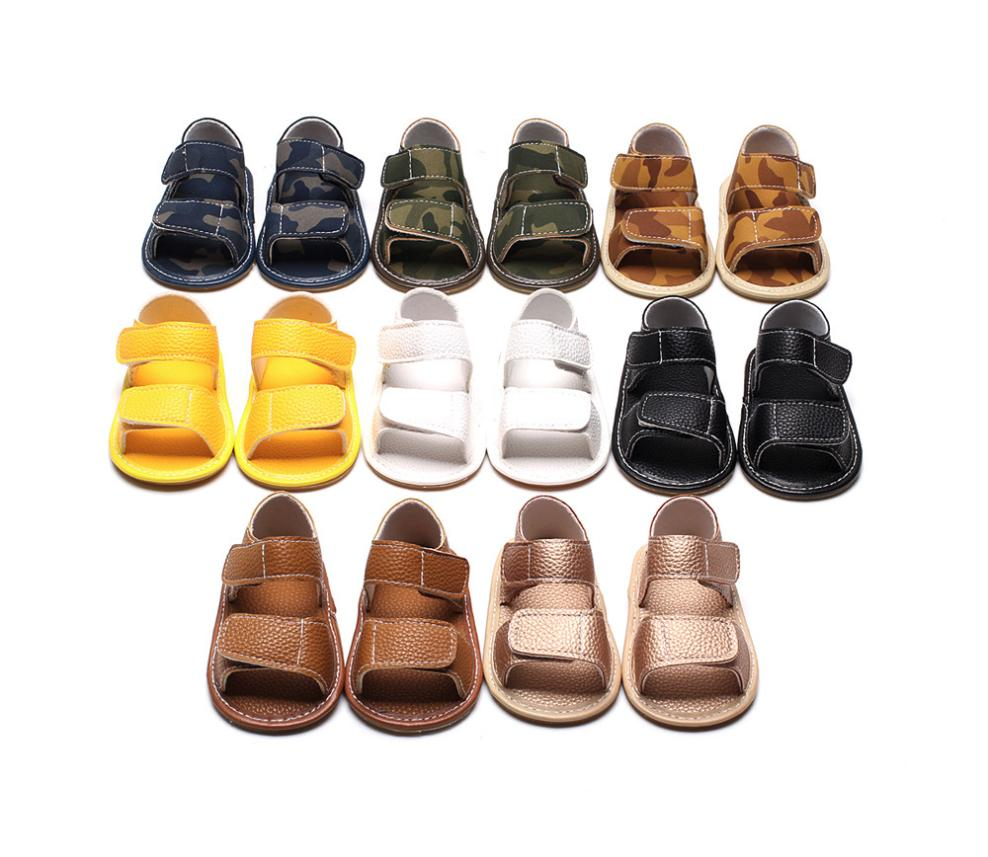 2018 New Hot Cute Newborn Infant Baby Girl Boy Leather Camouflage Lovely Summer Soft Flat Shoes High Quality Lovely Gift