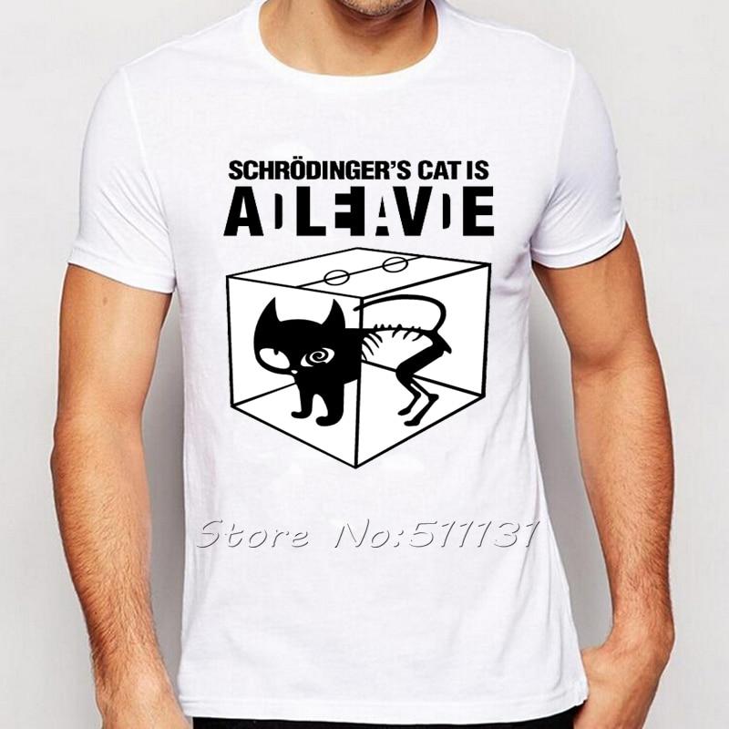 funny schrodingers cat t shirt science geek t shirts men fashion brand comic tee shirts the big bang sheldon cooper tshirts - Cool Tshirt Designs Ideas