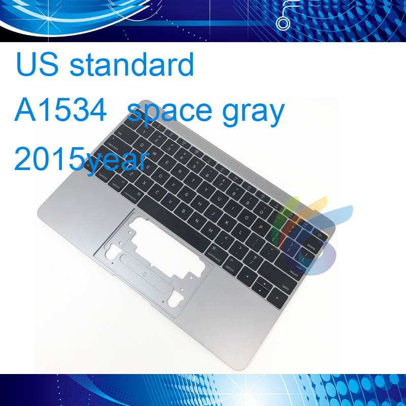 A1534 Topcase Gray Grey Silver Gold for Macbook 12 A1534 US Keyboard Backlight 2015 upper Top