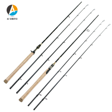 AI-SHOUYU New Carbon Lure Rod M/MH Power Spinning/Casting Fishing Rod C.W 10-28g Fishing Pole 2 Sections Lure Fishing Rod 1 98 2 1 2 4m high carbon lure rod 2 sections bait casting spinning fish rod 2 tips m mh telescopic fishing pole fishing tackle