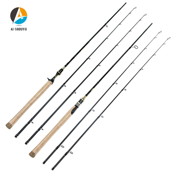 AI-SHOUYU New Carbon Lure Rod M/MH Power Spinning/Casting Fishing Rod C.W 10-28g Fishing Pole 2 Sections Lure Fishing Rod yuanwei 1 8m 2 1m spinning rod fast action m ml mh power casting rod carbon fiber fishing rod lure rod high quality b188