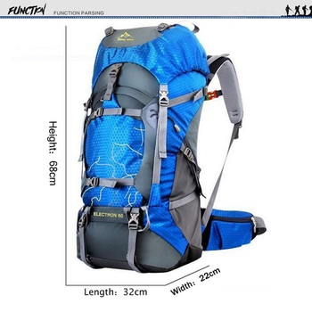 FengTu 60L Hiking Backpack Daypack For Men And Women Waterproof Camping Traveling Backpack Outdoor Climbing Sports Bag 6