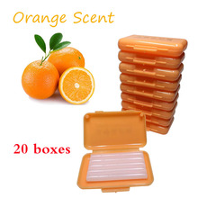 20 boxes/lot Dental Orthodontic Protection Ortho Wax for Brace Irritation Orange Scent Flavor Oral Hygiene