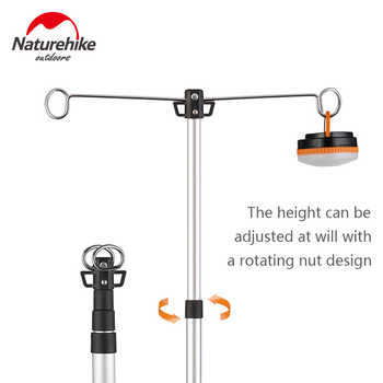 Naturehike Camping Tripod Aluminum Alloy Lampstand Telescopic Lamp Holder Outdoor Party Stretchable Lighting Bracket