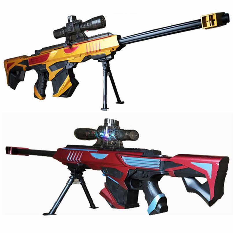Пластиковые инфракрасные водяные ружье с пульками, игрушка для детей мальчиков снайперская винтовка пистолет мягкий Пейнтбол Открытый игрушки стрельба пистолет детские подарки