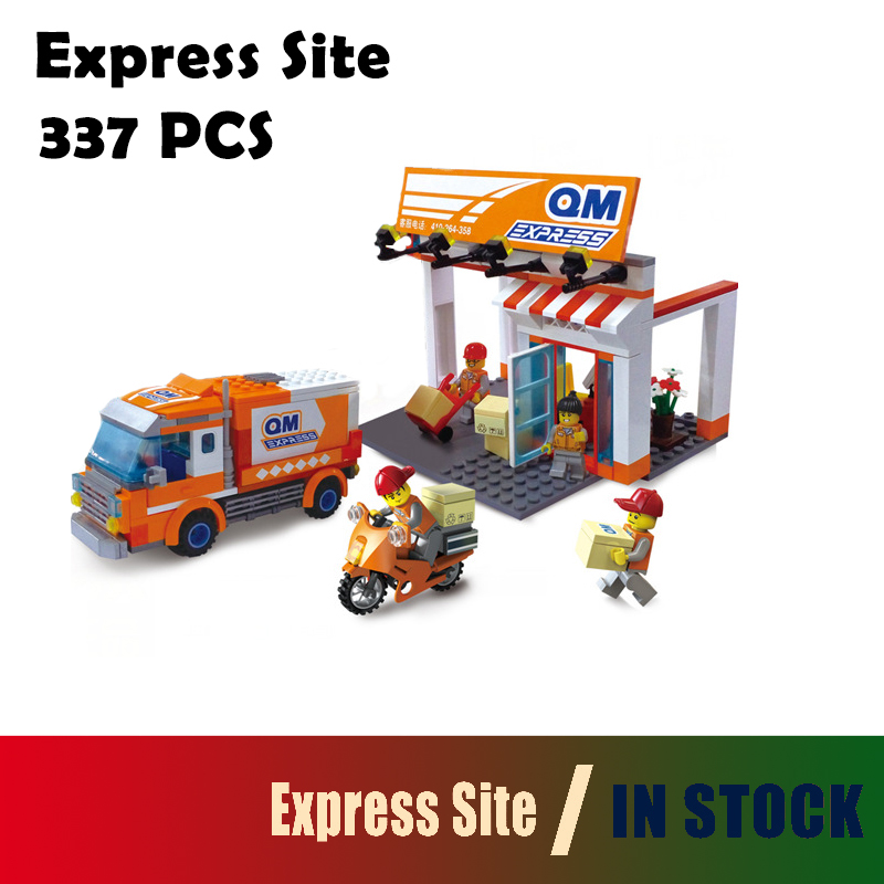 Compatible with lego city Model building block set Express Site 3D Construction Brick Educational Hobbies Toys for Kids