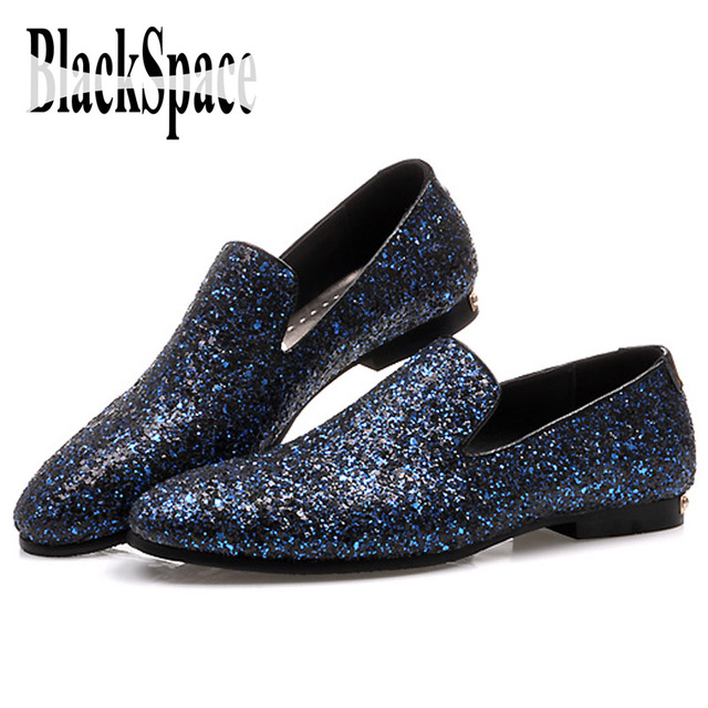 Black Sparkly Flat Shoes