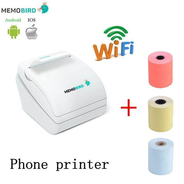 New Upgrade MEMOBIRD Wifi 58mm thermal Printer Micro USB Interface send 3 color parts paper free shipping