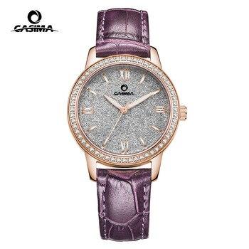 CASIMA Women Watches Waterproof Fashion Ladies Leather Rhinestone Gold Quartz Wrist Watch Clock Woman 2018 Saat Relogio Feminino