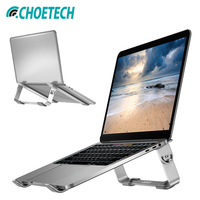 portable aluminum CHOETECH Mackbook Stand Adjustable Aluminum Laptop Stand Holder Compatible with Apple MacBook Air MacBook Pro Portable Laptop (1)