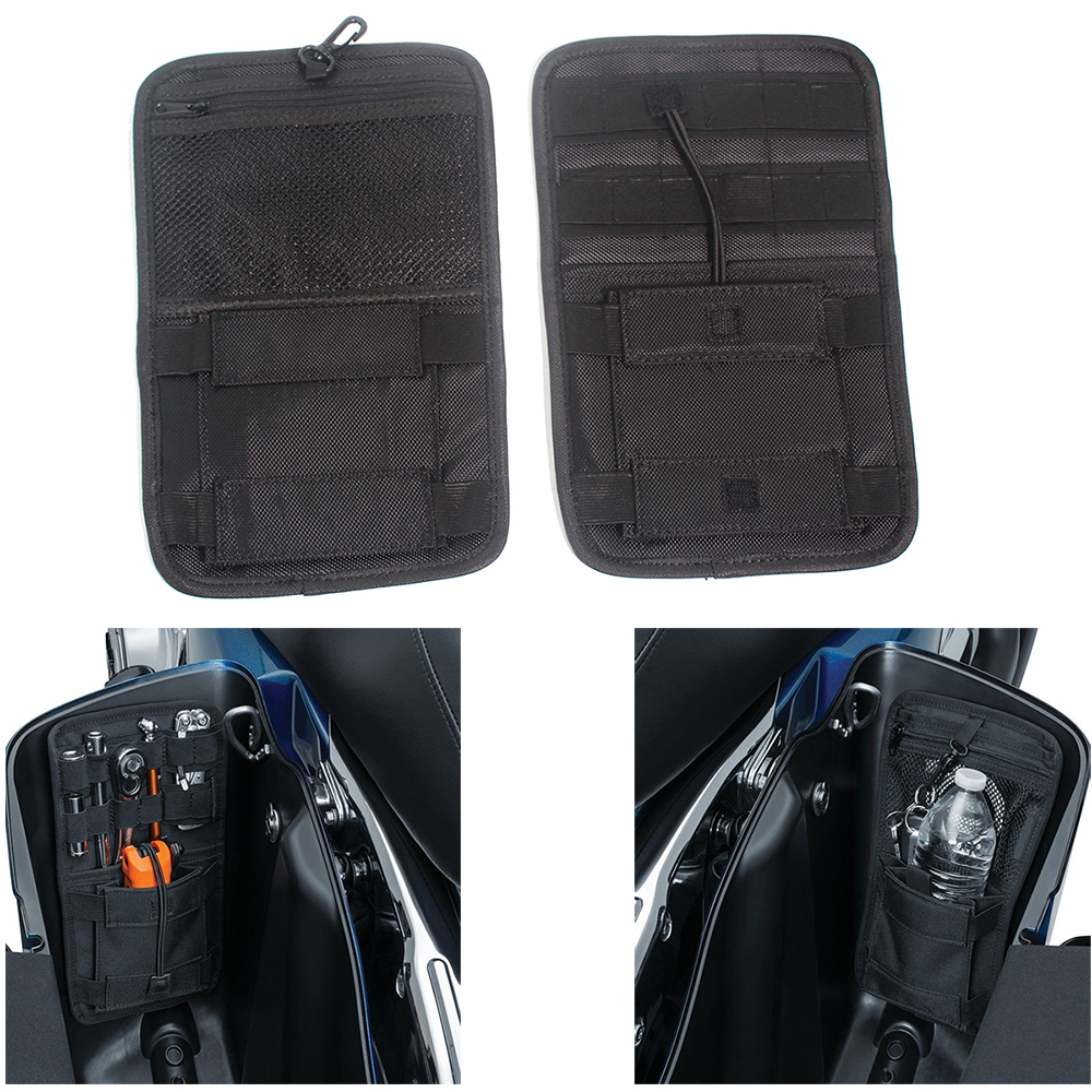 Home Dependable Small Tools Organizer Saddle Bags Hard Bags For Cruiser For Softail Touring Road King Street For Electra Glide Storage Case
