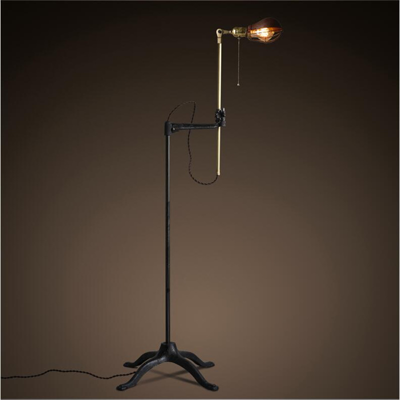 Creative Iron Industrial Standing Lamps Floor For Living Room Hotel Lighting Fixtures Free Shipping