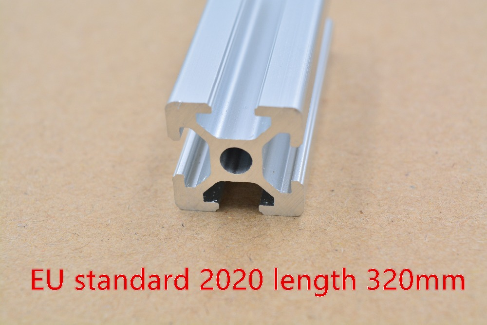 2020 Aluminum Extrusion Profile European Standard White Length 320mm Industrial   Workbench 1pcs