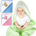 2015 Hot! Baby Towel Bath 100% Cotton Newborn Bath & Shower Products Character Umbrella Animal Hooded Baby Bathrobe