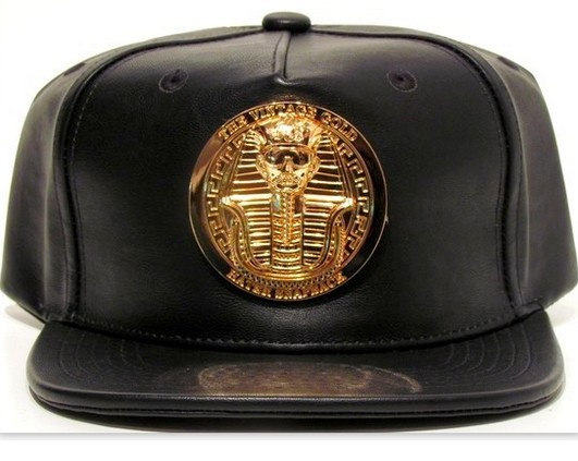 Hater Gold Pharaoh Leather Snapback Hat Casquette Hater Snapback All Black  Leather Gold Pharaoh Egypt Gold original hater hats-in Baseball Caps from  Apparel ... fdc7122a08a