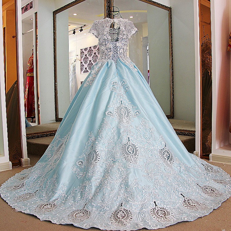 LS68721 Lovely abiye gece elbisesi beading crystals short sleeves ...