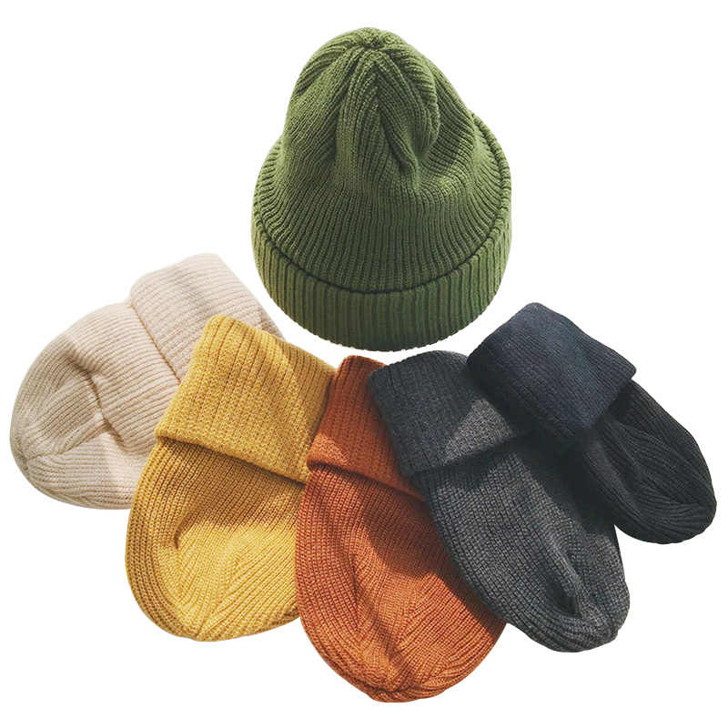 3145dd19110 Yellow Green Winter Hats For Women Double Knit Beanies Fashion Casual Hip  Hop Hat For A