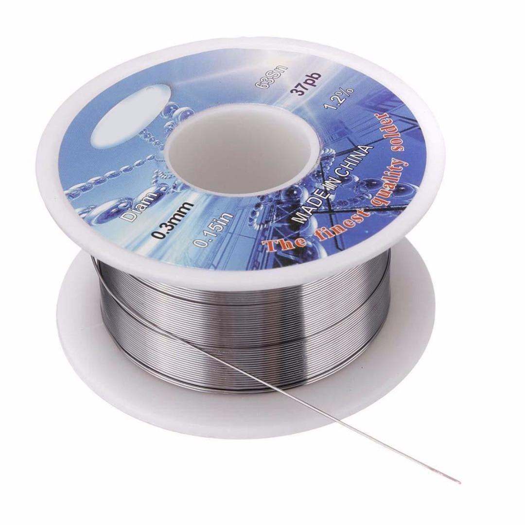 1 Roll Rosin Core Solder Wire 0.3mm 63/37 Tin Lead Flux Welding Iron Line Reel Solder Wire 2.0% 10 Meter Long