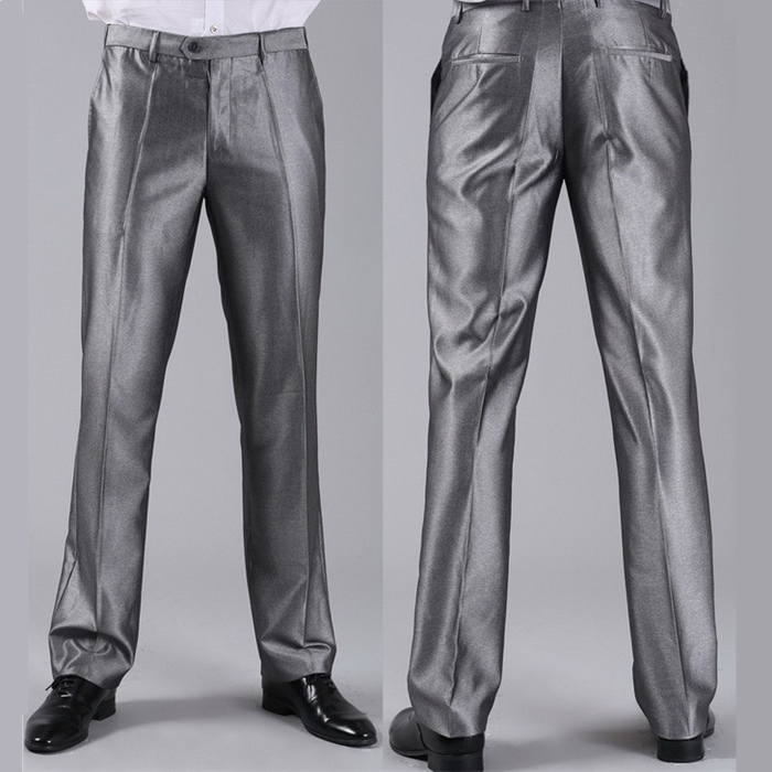 Мужские костюмные брюки модные свадебные формальные 12 цветов повседневные брюки известный бренд блейзер брюки Деловое платье брюки CBJ-H0284 - Цвет: slim silver grey