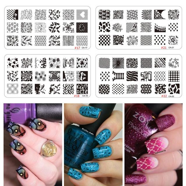 Colorful Nail Art Stencils Diy Collection - Nail Art Design Ideas ...