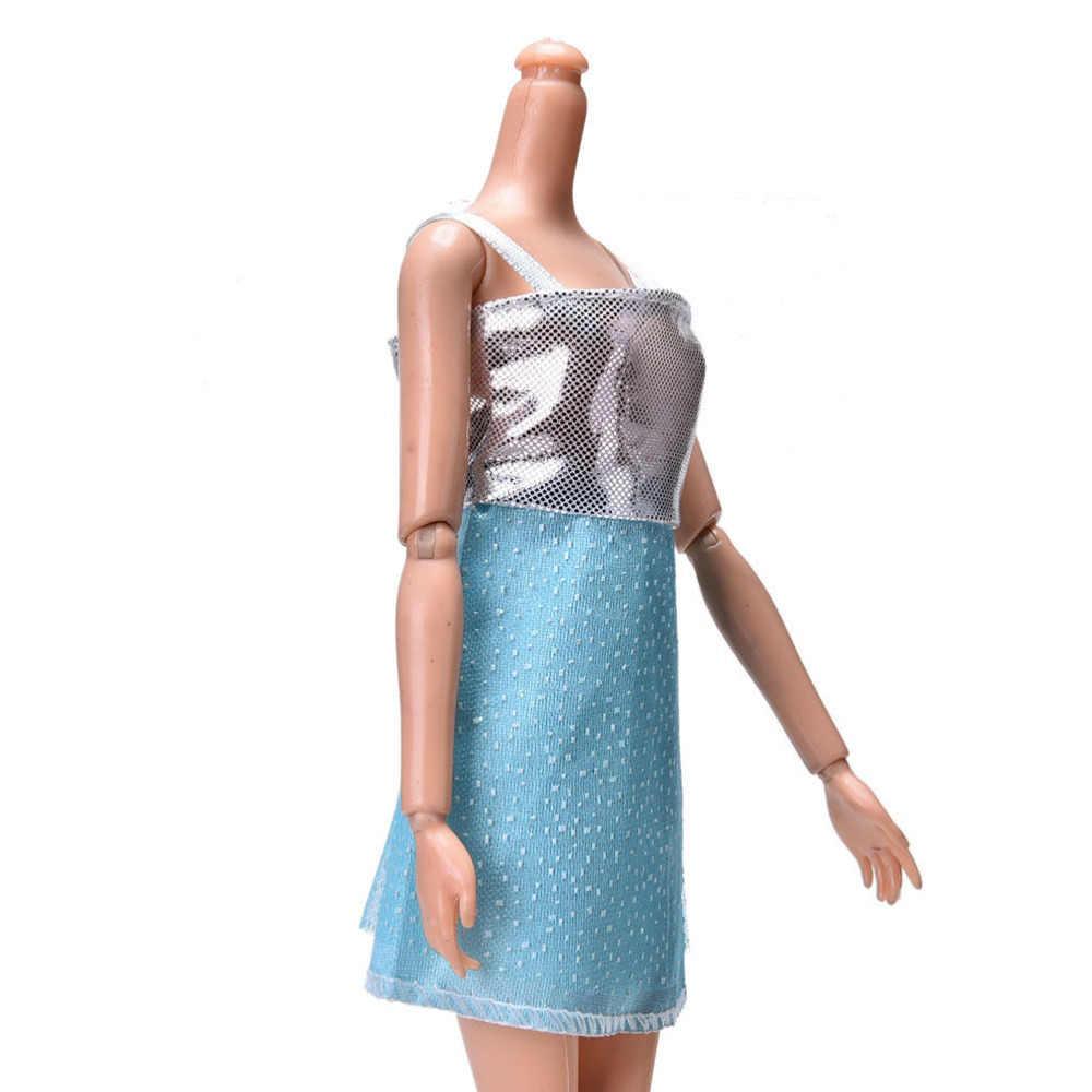 Bretelle Vestito Sveglio per La Bambola Polka Dot Abito Bambola di Stoffa Giocattolo Dei Bambini Del Regalo Del Giocattolo Della Ragazza