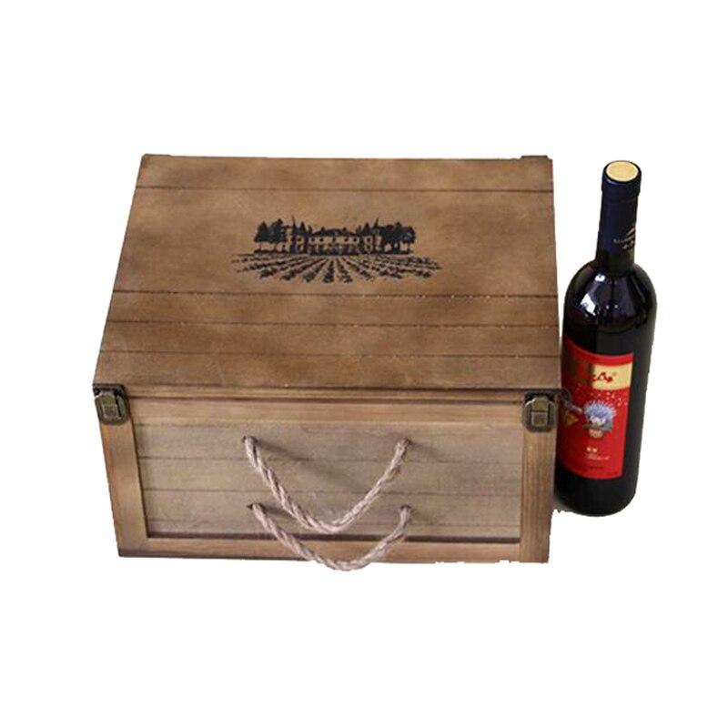 de alta calidad caja de vino de madera cajas de vino caja de regalo vino de