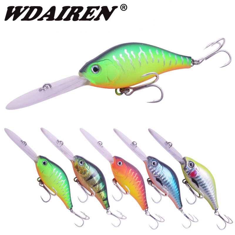 WDAIREN Jerkbait Fishing Lures 10.5cm 15g Deep water Wobbler Crankbaits Artificial Hard Baits For Bass Fishing Tackle VMC Hooks 8 pcs 8 color cicada baits fishing lures bass crankbaits 3 4g float baits tackle tool