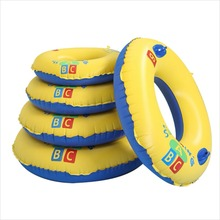 1Pc Inflatable Swim Ring Children Circle Float Water Toy Swimming Training Aid New 1pcs swimming swim pool noodle water float aid noodles foam float water float aid woggle swim flexible row ring learn foam