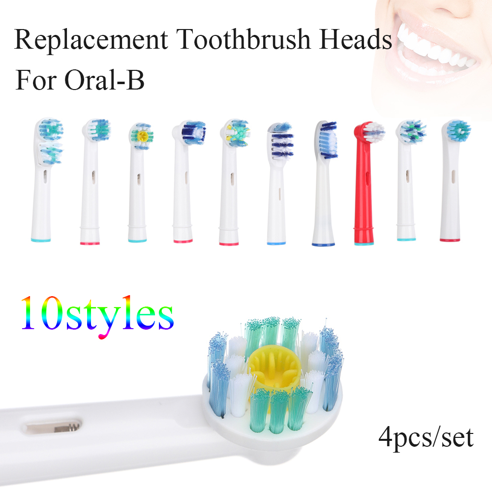 Heads Replacement Toothbrush Soft-Bristle Oral-Hygiene Electric New 4pcs for Cross-Floss