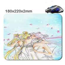 Print Animated Cartoon Mouse Pad Custom Non-Slip Durable Computer Laptop Gaming Rubber Mouse Pad in 220*180*2 Mm As office Gift