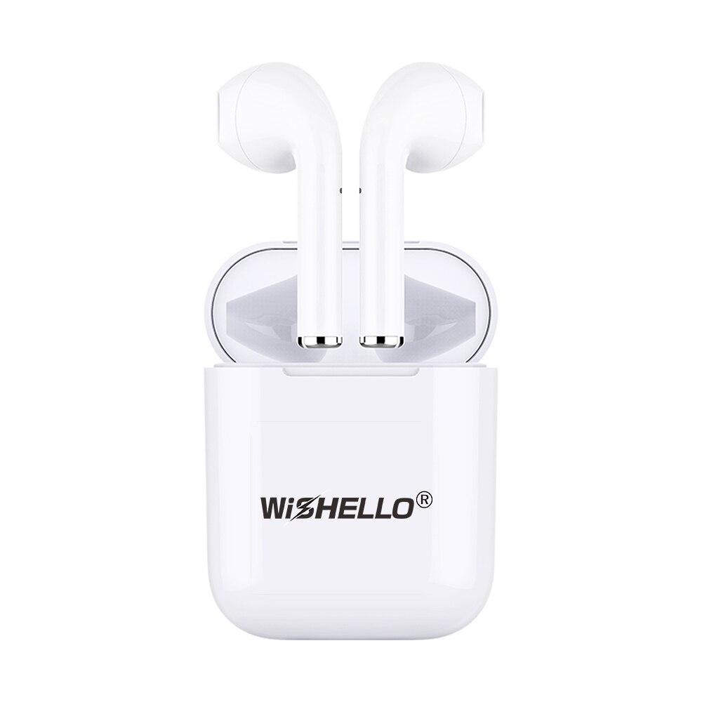 WiSHELLO Jumeaux Vrai Sans Fil Bluetooth 5.0 Stéréo In-Ear Écouteurs avec boîte de charge pour iphone X 7 7 plus Huawei Xiaomi