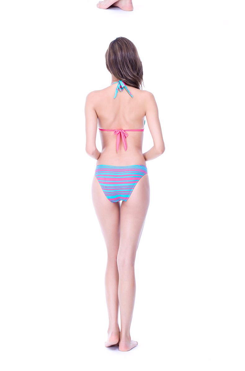 Foclassy new sexy swimsuit stripe push up plus size 3xl women swimwear one piece bathing suit with high waisted swimwear 7009 10