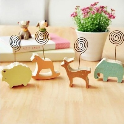 1 Pics Wood Memo Pincer Clips Paper Photo Clip Holder Wooden Small Clamps Stand Peg