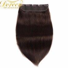 Дорин #2 темно-коричневый один шт набор 100 г клип в Пряди человеческих волос для наращивания 10 дюймов 5 Зажимы бразильский Реми прямые волос 100% человеческих Хай