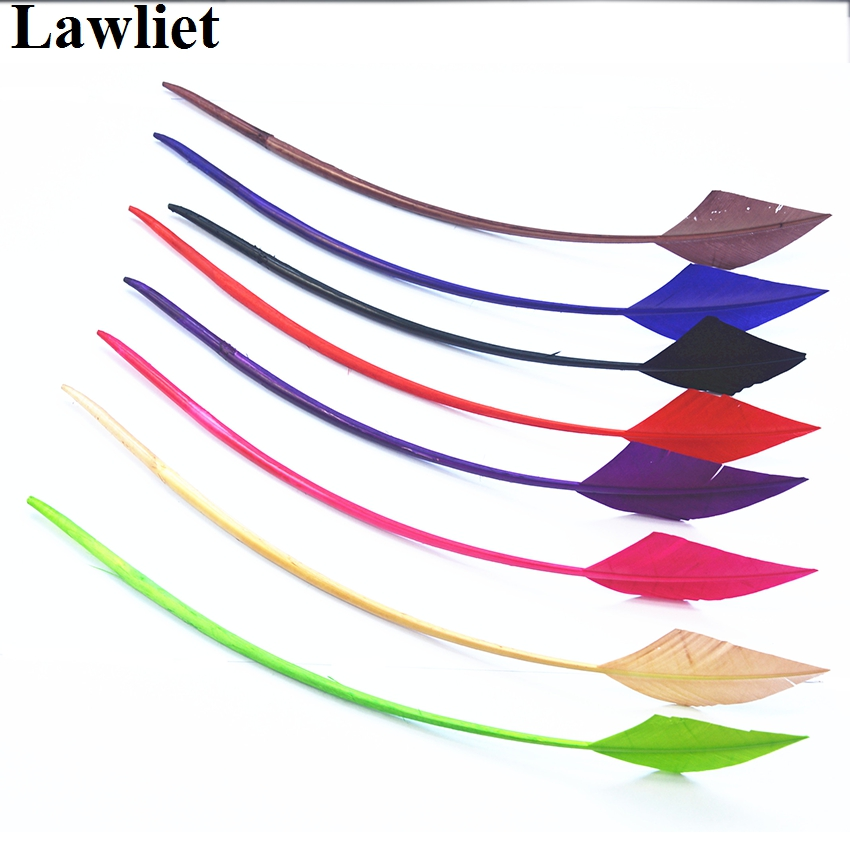 10pcs/lot Arrow Head Turkey Quill Feather Singles For Millinery Hats Supply Fascinators Making Craft DIY B049