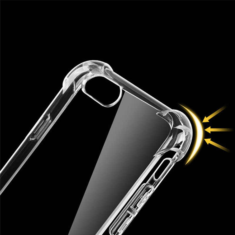 سوبر صدمات واضح لينة حقيبة لهاتف أي فون 5 5s SE 8 7 6 Plus 6SPlus 7Plus 8Plus X S R ماكس سيليكون فاخر الغطاء الخلفي للهاتف الخلوي
