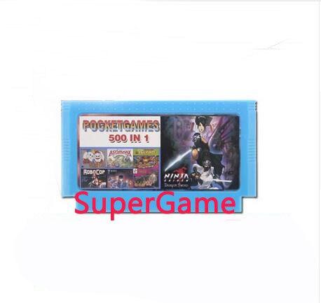500 In 1 Game card Real 500 Games 60 Pin 8 Bit Game cartridge