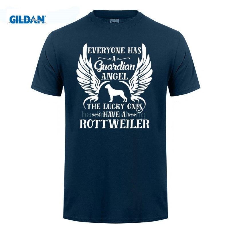 GILDAN t shirt design pattern man t-shirt My Guardian Angel Is A Rottweiler. Cool Gift - Unisex Tshirt