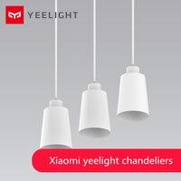 Оригинальный Xiaomi yeelight Открытый Подвесные Светильники Обеденная современный ресторан Кофе Спальня Освещение E27 держатель для Xiaomi умный дом